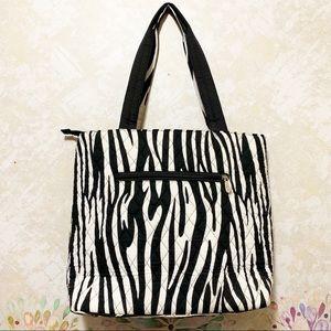 mélange posh Bags - Large Quilted Zebra Stripe 3pc Diaper Bag
